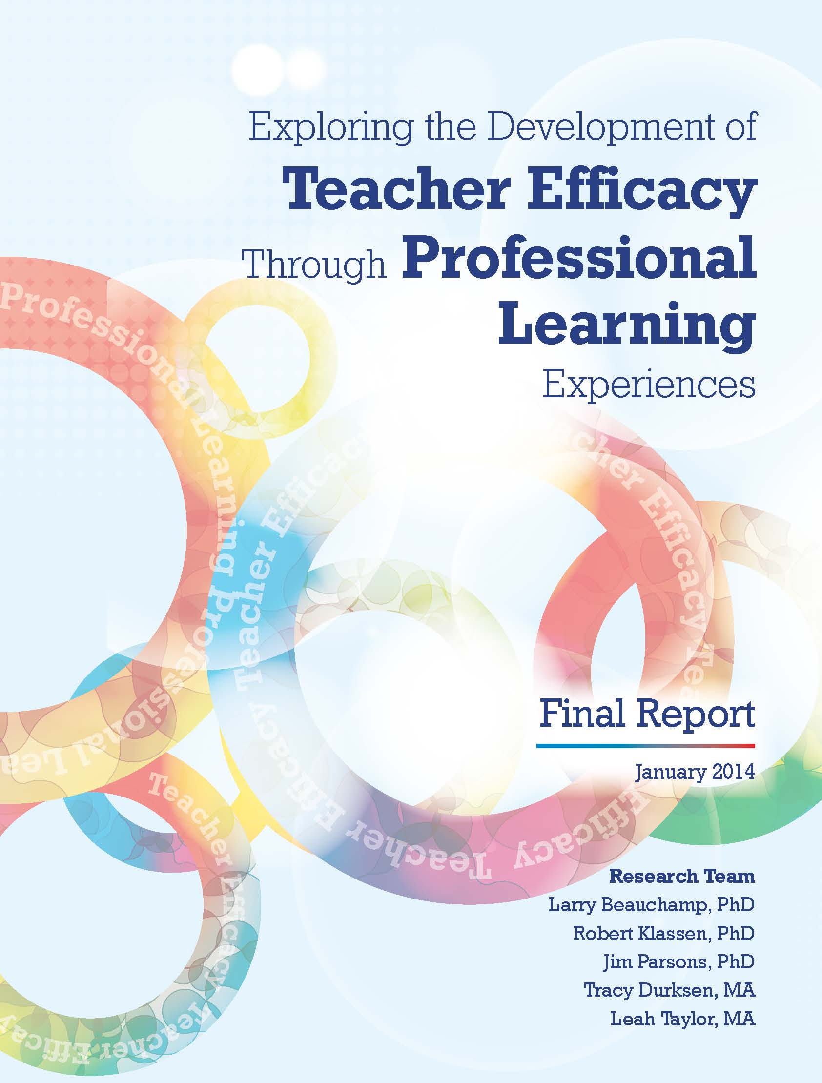 professional learning experience 2 professional learning in effective schools: the seven principles of highly effective professional learning introduction teaching is complex and demanding work that requires highly specialised skills and knowledge to.